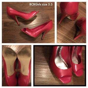 BCBGirls Hot pink heels size 5.5